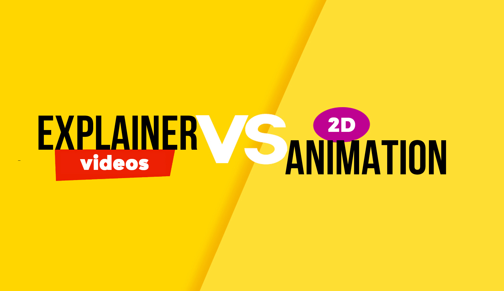 Difference between 2d animation and an Explainer Video